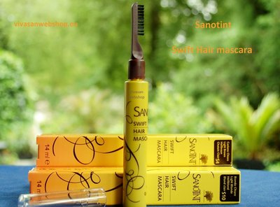 Sanotint Swift Hair Mascara S4 Dark Chestnut for men and woman